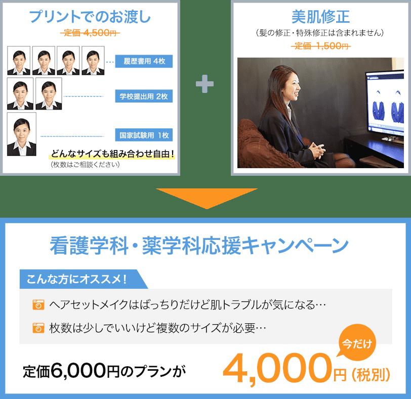 看護学科・薬学科応援キャンペーン 3.美肌修正プラン