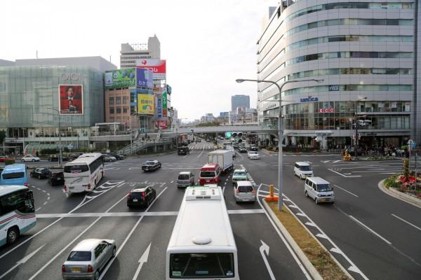 JR三ノ宮駅 歩道橋からの景色