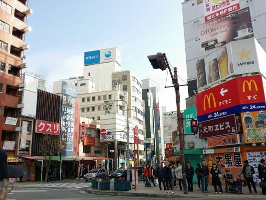 2016年正月の神戸元町の景色