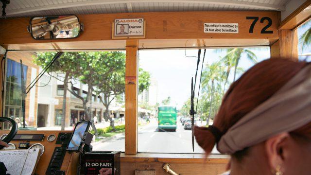 バスの運転手さんもエッセンシャルワーカーの一つ